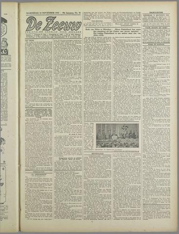 De Zeeuw. Christelijk-historisch nieuwsblad voor Zeeland 1943-11-10