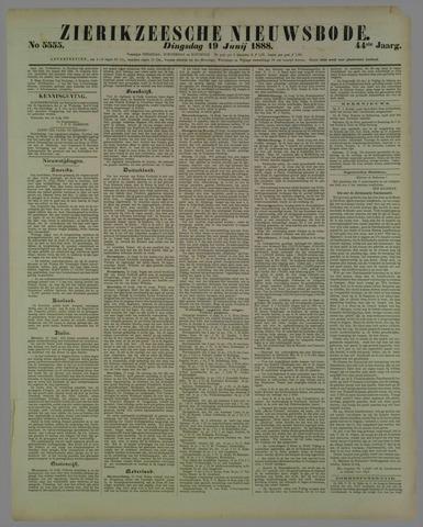 Zierikzeesche Nieuwsbode 1888-06-19