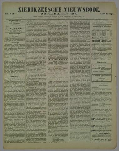 Zierikzeesche Nieuwsbode 1882-11-11
