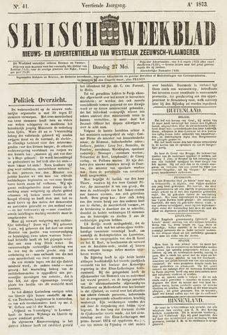 Sluisch Weekblad. Nieuws- en advertentieblad voor Westelijk Zeeuwsch-Vlaanderen 1873-05-27