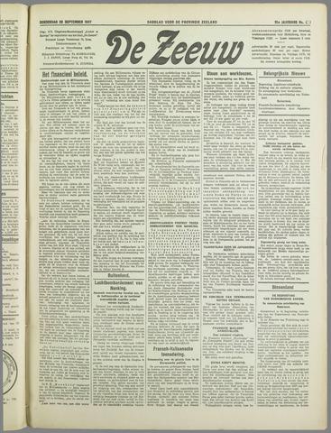 De Zeeuw. Christelijk-historisch nieuwsblad voor Zeeland 1937-09-23