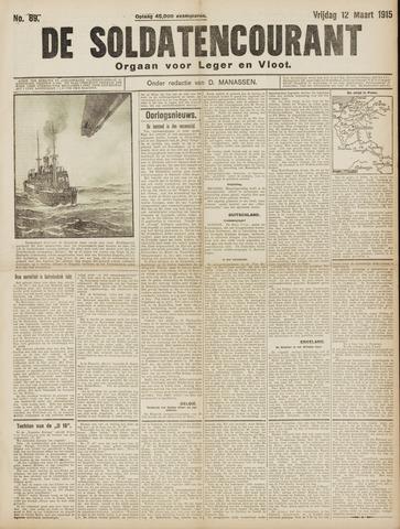 De Soldatencourant. Orgaan voor Leger en Vloot 1915-03-12