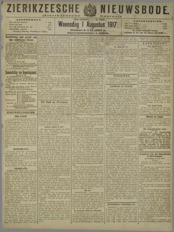 Zierikzeesche Nieuwsbode 1917-08-01