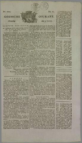 Goessche Courant 1820-10-09