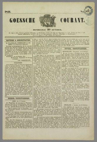 Goessche Courant 1851-10-30