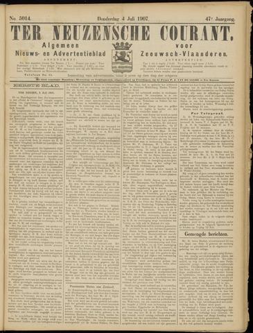 Ter Neuzensche Courant. Algemeen Nieuws- en Advertentieblad voor Zeeuwsch-Vlaanderen / Neuzensche Courant ... (idem) / (Algemeen) nieuws en advertentieblad voor Zeeuwsch-Vlaanderen 1907-07-04