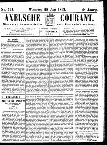 Axelsche Courant 1893-06-28