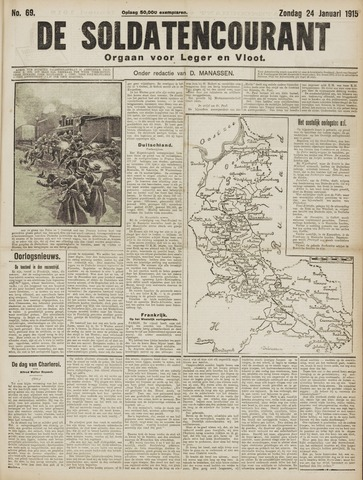 De Soldatencourant. Orgaan voor Leger en Vloot 1915-01-24