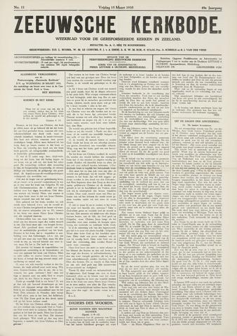 Zeeuwsche kerkbode, weekblad gewijd aan de belangen der gereformeerde kerken/ Zeeuwsch kerkblad 1935-03-15