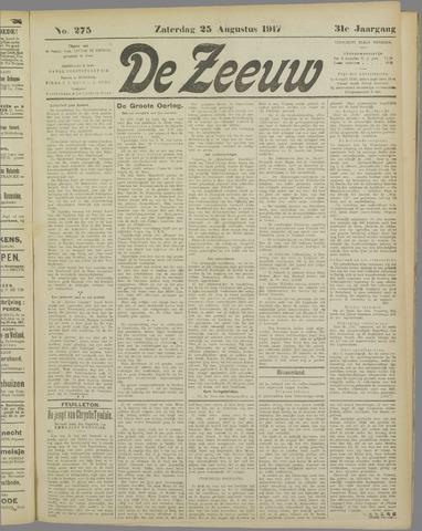 De Zeeuw. Christelijk-historisch nieuwsblad voor Zeeland 1917-08-25