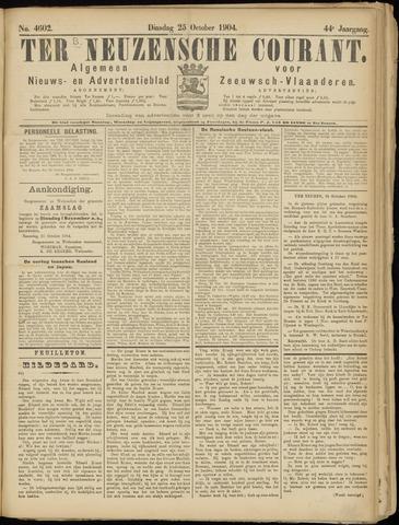 Ter Neuzensche Courant. Algemeen Nieuws- en Advertentieblad voor Zeeuwsch-Vlaanderen / Neuzensche Courant ... (idem) / (Algemeen) nieuws en advertentieblad voor Zeeuwsch-Vlaanderen 1904-10-25