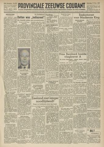 Provinciale Zeeuwse Courant 1947-11-15