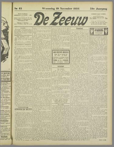 De Zeeuw. Christelijk-historisch nieuwsblad voor Zeeland 1924-11-19