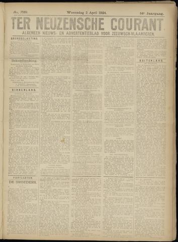 Ter Neuzensche Courant. Algemeen Nieuws- en Advertentieblad voor Zeeuwsch-Vlaanderen / Neuzensche Courant ... (idem) / (Algemeen) nieuws en advertentieblad voor Zeeuwsch-Vlaanderen 1924-04-02