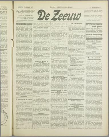 De Zeeuw. Christelijk-historisch nieuwsblad voor Zeeland 1937-02-17