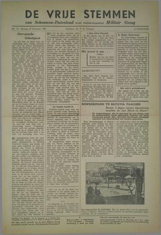 Vrije Stemmen van Schouwen-Duiveland, tevens mededeelingenblad Militair Gezag 1945-11-20