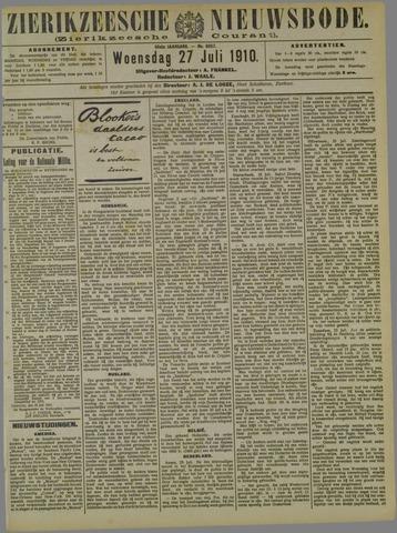 Zierikzeesche Nieuwsbode 1910-07-27