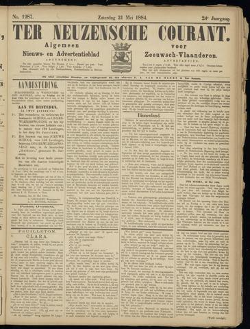 Ter Neuzensche Courant. Algemeen Nieuws- en Advertentieblad voor Zeeuwsch-Vlaanderen / Neuzensche Courant ... (idem) / (Algemeen) nieuws en advertentieblad voor Zeeuwsch-Vlaanderen 1884-05-31
