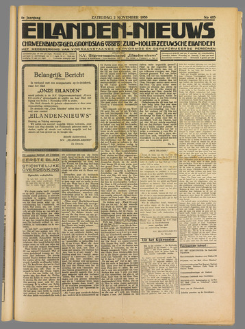Eilanden-nieuws. Christelijk streekblad op gereformeerde grondslag 1935-11-02