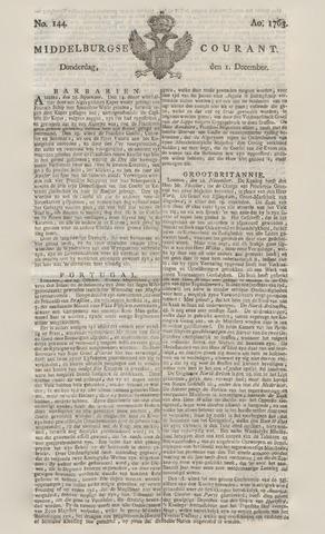 Middelburgsche Courant 1763-12-01