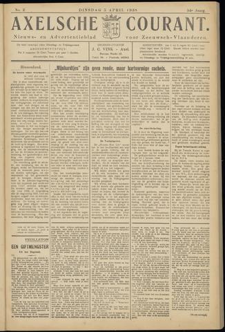 Axelsche Courant 1938-04-05