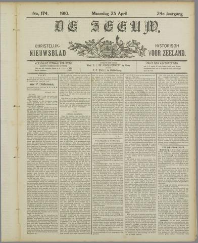 De Zeeuw. Christelijk-historisch nieuwsblad voor Zeeland 1910-04-25