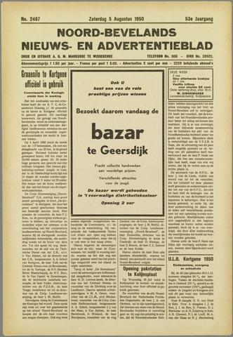 Noord-Bevelands Nieuws- en advertentieblad 1950-08-05