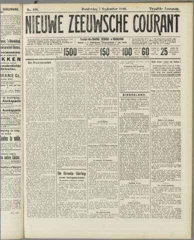 Nieuwe Zeeuwsche Courant 1916-09-07