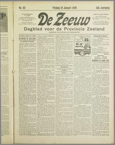 De Zeeuw. Christelijk-historisch nieuwsblad voor Zeeland 1929-01-18