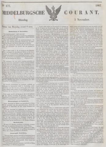 Middelburgsche Courant 1867-11-05