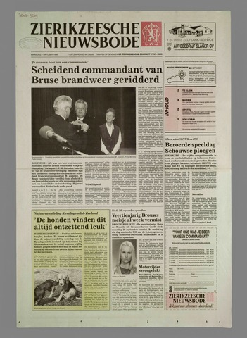 Zierikzeesche Nieuwsbode 1996-10-07