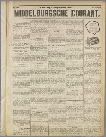 Middelburgsche Courant 1922-09-27