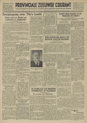 Provinciale Zeeuwse Courant 1949-08-31