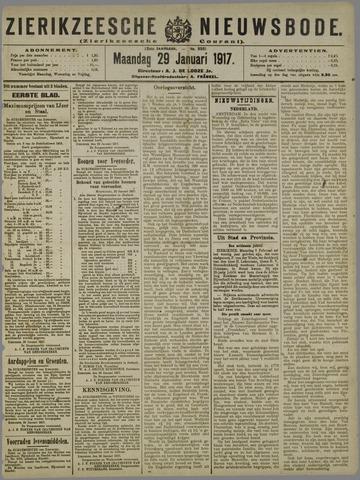Zierikzeesche Nieuwsbode 1917-01-29