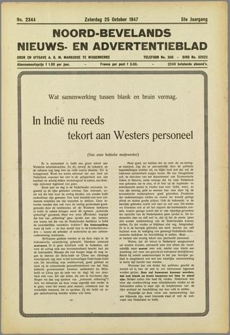 Noord-Bevelands Nieuws- en advertentieblad 1947-10-25