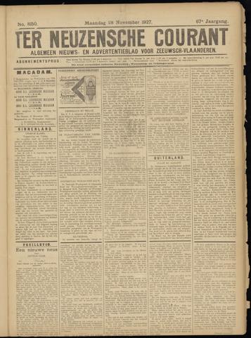 Ter Neuzensche Courant. Algemeen Nieuws- en Advertentieblad voor Zeeuwsch-Vlaanderen / Neuzensche Courant ... (idem) / (Algemeen) nieuws en advertentieblad voor Zeeuwsch-Vlaanderen 1927-11-28