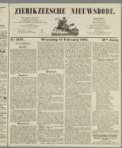 Zierikzeesche Nieuwsbode 1865-02-15
