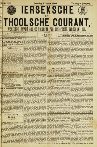 Ierseksche en Thoolsche Courant 1903-03-07