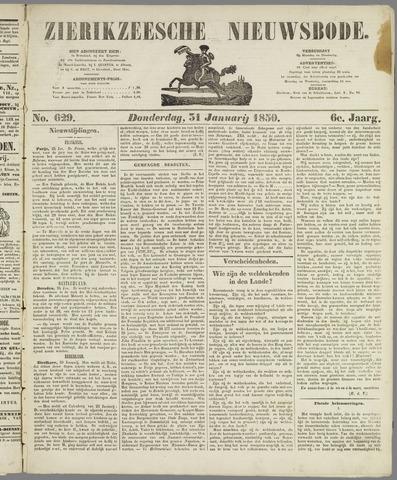 Zierikzeesche Nieuwsbode 1850-01-31
