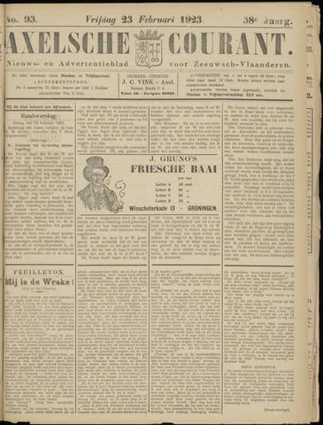 Axelsche Courant 1923-02-23