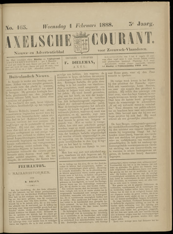 Axelsche Courant 1888-02-01