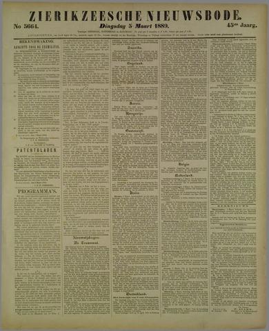 Zierikzeesche Nieuwsbode 1889-03-05