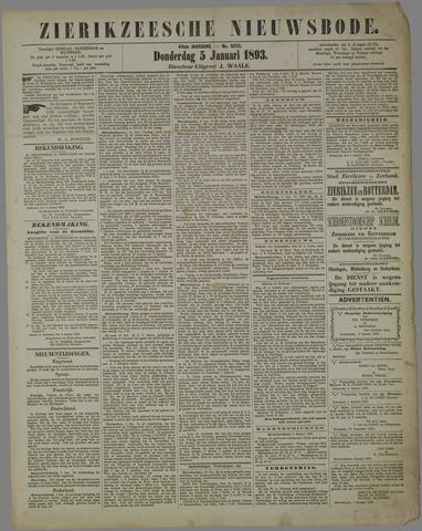 Zierikzeesche Nieuwsbode 1893-01-05