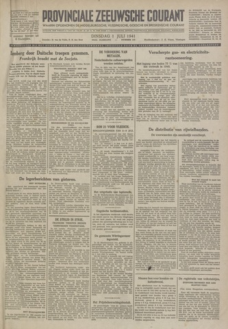 Provinciale Zeeuwse Courant 1941-07-01