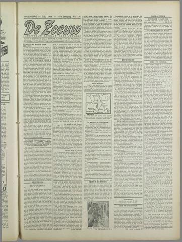 De Zeeuw. Christelijk-historisch nieuwsblad voor Zeeland 1943-07-14