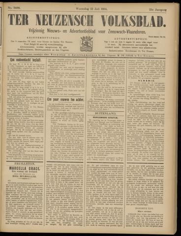 Ter Neuzensch Volksblad. Vrijzinnig nieuws- en advertentieblad voor Zeeuwsch- Vlaanderen / Zeeuwsch Nieuwsblad. Nieuws- en advertentieblad voor Zeeland 1914-07-15