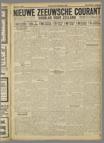 Nieuwe Zeeuwsche Courant 1921-12-30