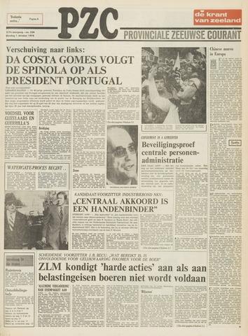 Provinciale Zeeuwse Courant 1974-10-01