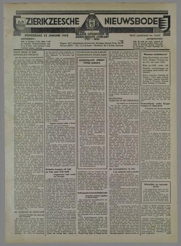Zierikzeesche Nieuwsbode 1942-01-22