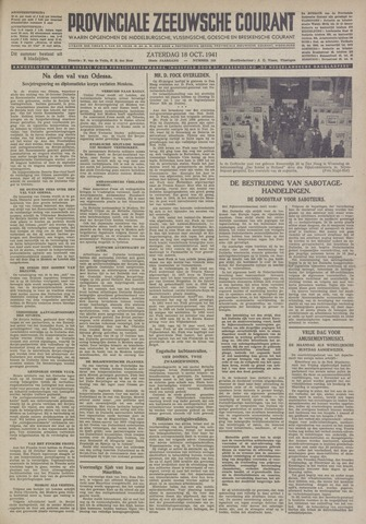 Provinciale Zeeuwse Courant 1941-10-18